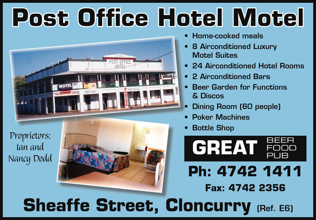 Oasis Hotel Motel Cloncurry Qld